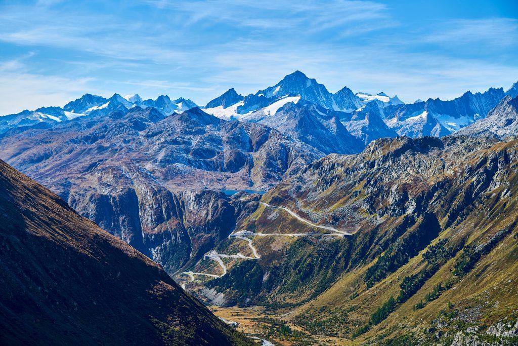 Furkapass und Rhonegletscher